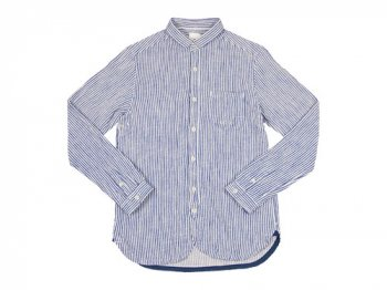 maillot sunset flannel stripe shirts BLUE x WHITE