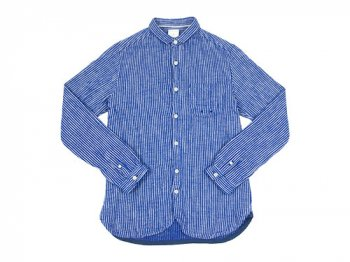 maillot sunset flannel stripe shirts BLUE x NAVY