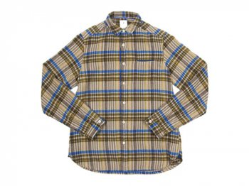 maillot sunset flannel check shirts BEIGE