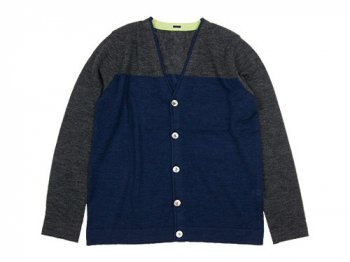 maillot 2-tone cardigan TOP CHARCOAL x TOP NAVY