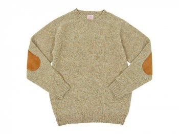 BRICK CREW NECK KNIT パッチ付き WHEATEAR
