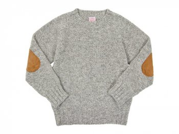 BRICK CREW NECK KNIT CURE パッチ付き MUSHROOM