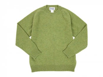 Charpentier de Vaisseau Shetland Crew Sweater LIGHT GREEN