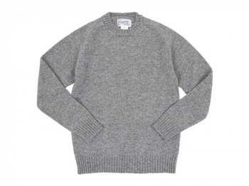 Charpentier de Vaisseau Shetland Crew Sweater LIGHT GRAY