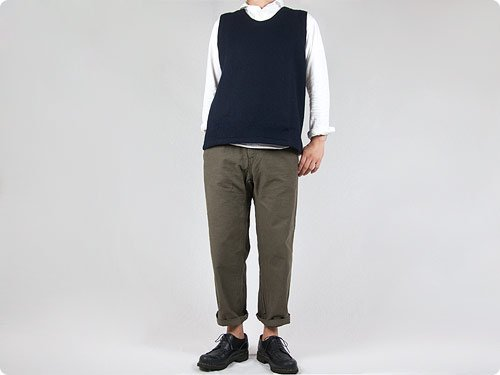 ordinary fits FRENCH CROPPED HEATHER OLIVE