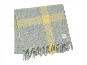 Studio Donegal TWEED MUFFLER LIGHT GREEN x GRAY 2