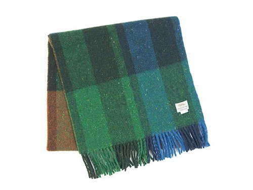 Studio Donegal TWEED MUFFLER DARK GREEN x ORANGE H