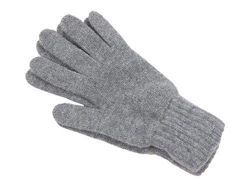 William Brunton Hand Knits Gloves LIGHT GRAY