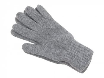 William Brunton Hand Knits Gloves LIGHT GRAY