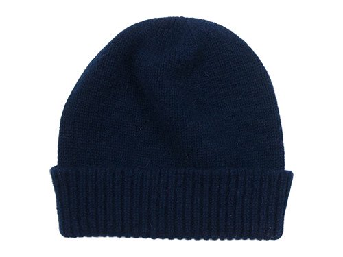William Brunton Hand Knits Cap NAVY