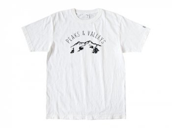 ENDS and MEANS Peaks & Valleys Tee WHITE