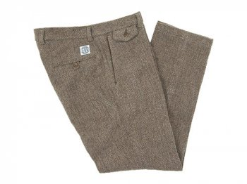 ENDS and MEANS Wool Grandpa Trousers HERRINGBONE