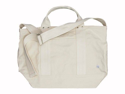 ENDS and MEANS 2way tote bag WHITE