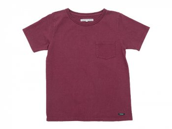 DAILY WARDROBE INDUSTRY CREW NECK POCKET T-SHIRT TUESDAY(BURGUNDY)