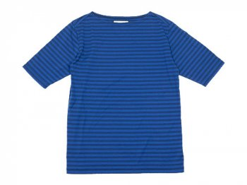 Charpentier de Vaisseau Middle Stripe Boat Neck Tee BLUE x NAVY