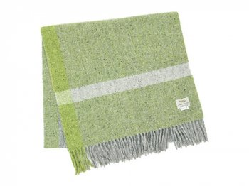 Studio Donegal TWEED MUFFLER LIGHT GREEN x GRAY 1