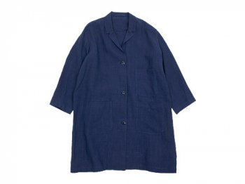 Lin francais d'antan Godard(ゴダール) hemp coat NAVY