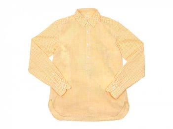 TATAMIZE P/O SHIRTS Plain YELLOW GINGHAM