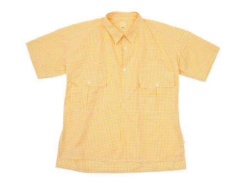 TATAMIZE HALF SLEEVE WORK SHIRTS YELLOW GINGHAM
