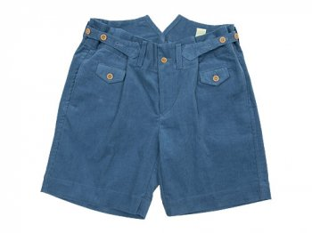 TATAMIZE CORDUROY WORK SHORTS BLUE