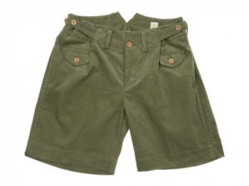 TATAMIZE CORDUROY WORK SHORTS OLIVE