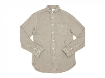 maillot sunset linen round work shirts BEIGE