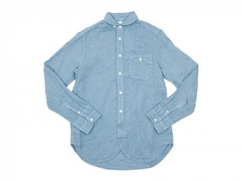 maillot sunset linen round work shirts LIGHT BLUE