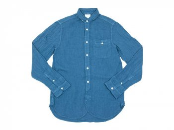 maillot sunset linen round work shirts SLATE BLUE