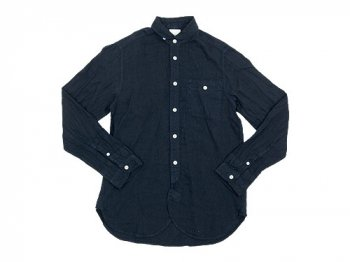 maillot sunset linen round work shirts NAVY