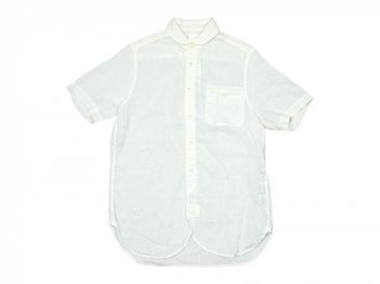 maillot sunset linen round work S/S shirts WHITE
