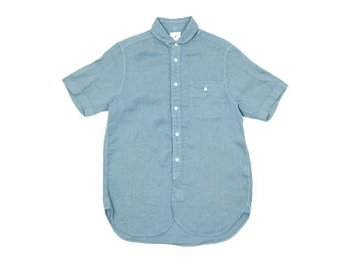 maillot sunset linen round work S/S shirts LIGHT BLUE