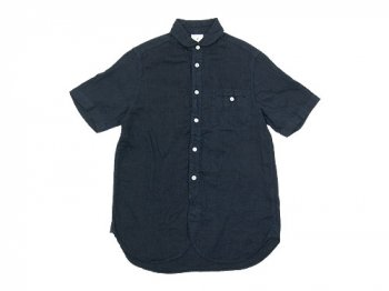 maillot sunset linen round work S/S shirts NAVY