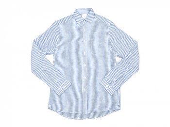 maillot linen stripe B.D. shirts BLUE