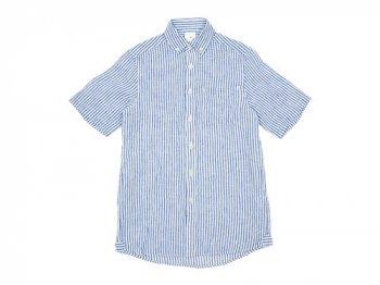 maillot linen stripe B.D. S/S shirts BLUE