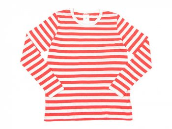 maillot ライトボーダー長袖Tシャツ CORAL