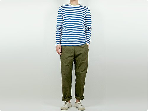 maillot ライトボーダー長袖Tシャツ BLUE