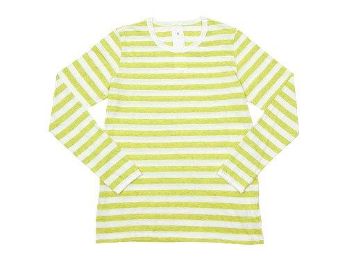maillot ライトボーダー長袖Tシャツ LEMON