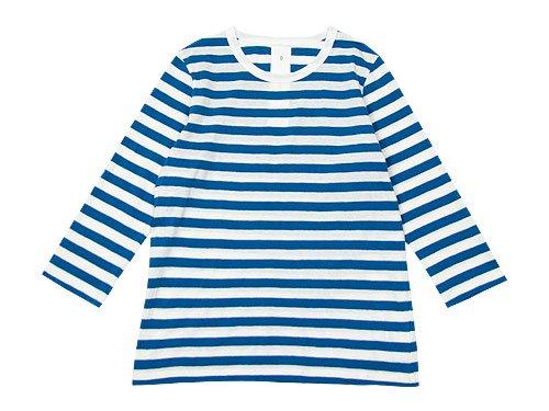 maillot ライトボーダー7分袖Tシャツ BLUE