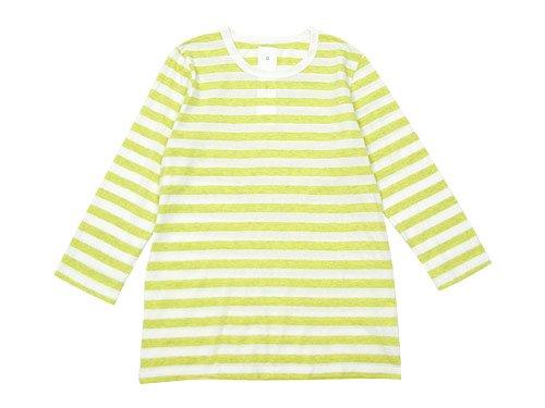 maillot ライトボーダー7分袖Tシャツ LEMON