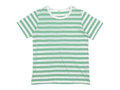 maillot ライトボーダー半袖Tシャツ MINT