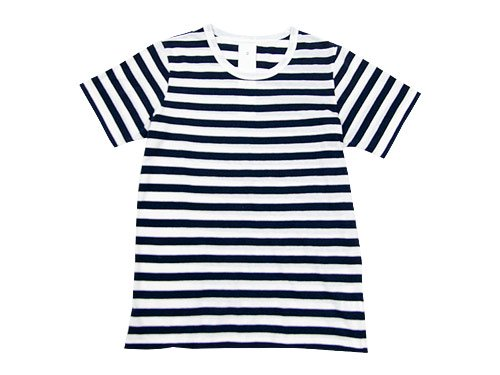maillot ライトボーダー半袖Tシャツ NAVY