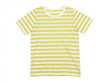 maillot ライトボーダー半袖Tシャツ LEMON