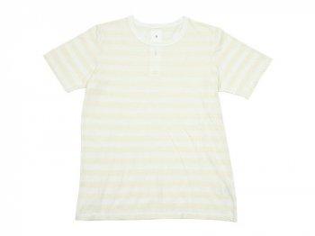 maillot ライトボーダー半袖Tシャツ ECRU