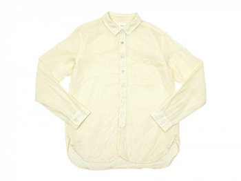 【別注】 RINEN 100/1ラミーシャンブレー レギュラーカラーシャツ 22YELLOW〔メンズ〕