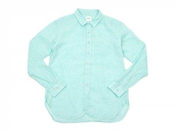【別注】 RINEN 100/1ラミーシャンブレー レギュラーカラーシャツ 29MINT BLUE〔メンズ〕