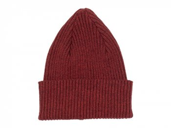MHL. COTTON KNIT CAP 104BURGUNDY