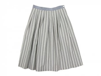 MARGARET HOWELL YARN DYED COTTON LINEN SKIRT 020GRAY