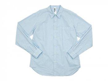 MHL. GARMENT DYE POPLIN SHIRTS 111LIGHT BLUE 〔メンズ〕