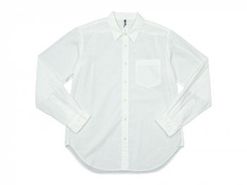 MHL. GARMENT DYE COTTON LINEN SHIRTS 030WHITE 〔メンズ〕