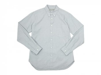 MARGARET HOWELL PIN OXFORD SHIRTS 020GRAY 〔メンズ〕